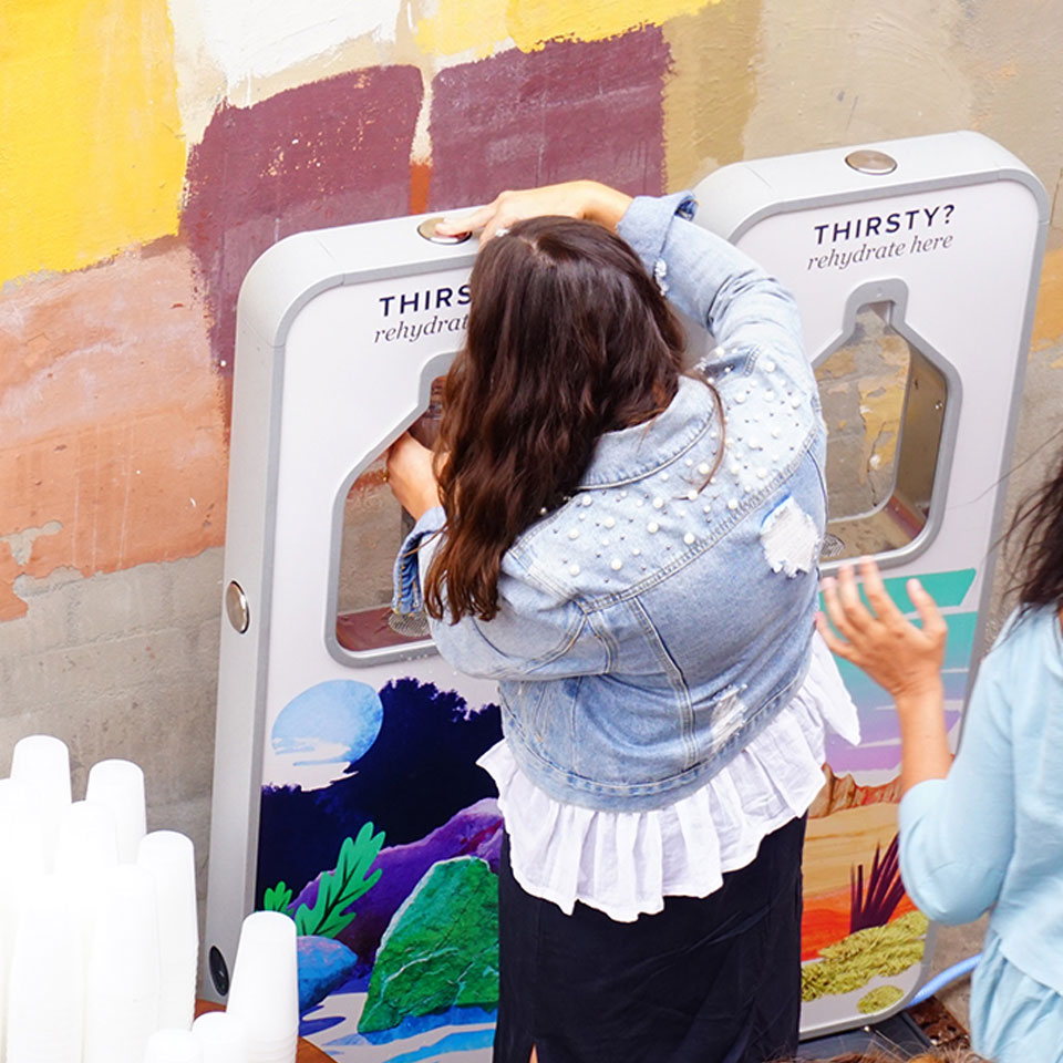 Meet Pat, branded drinking fountains at Purpose 2018.