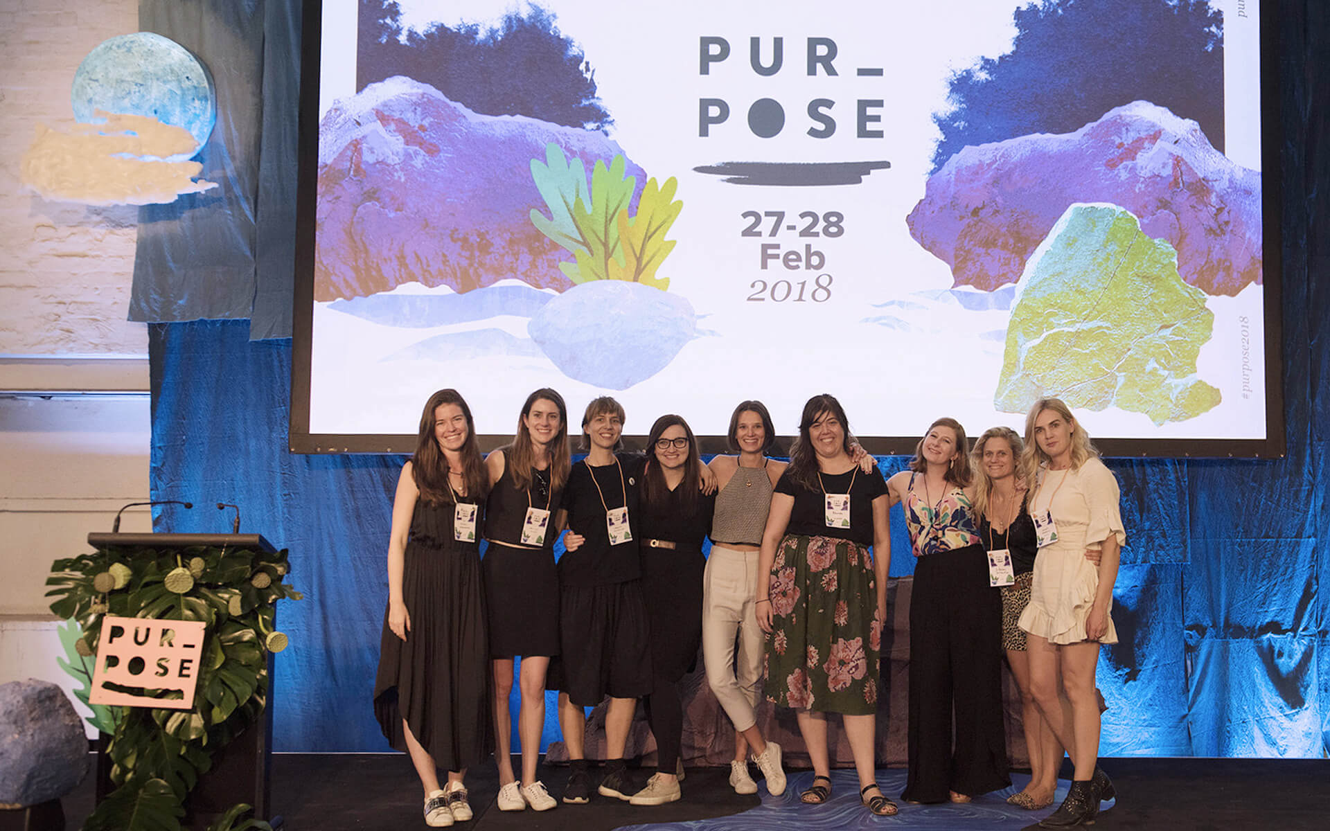 The Wildwon team on the Purpose 2018 stage.