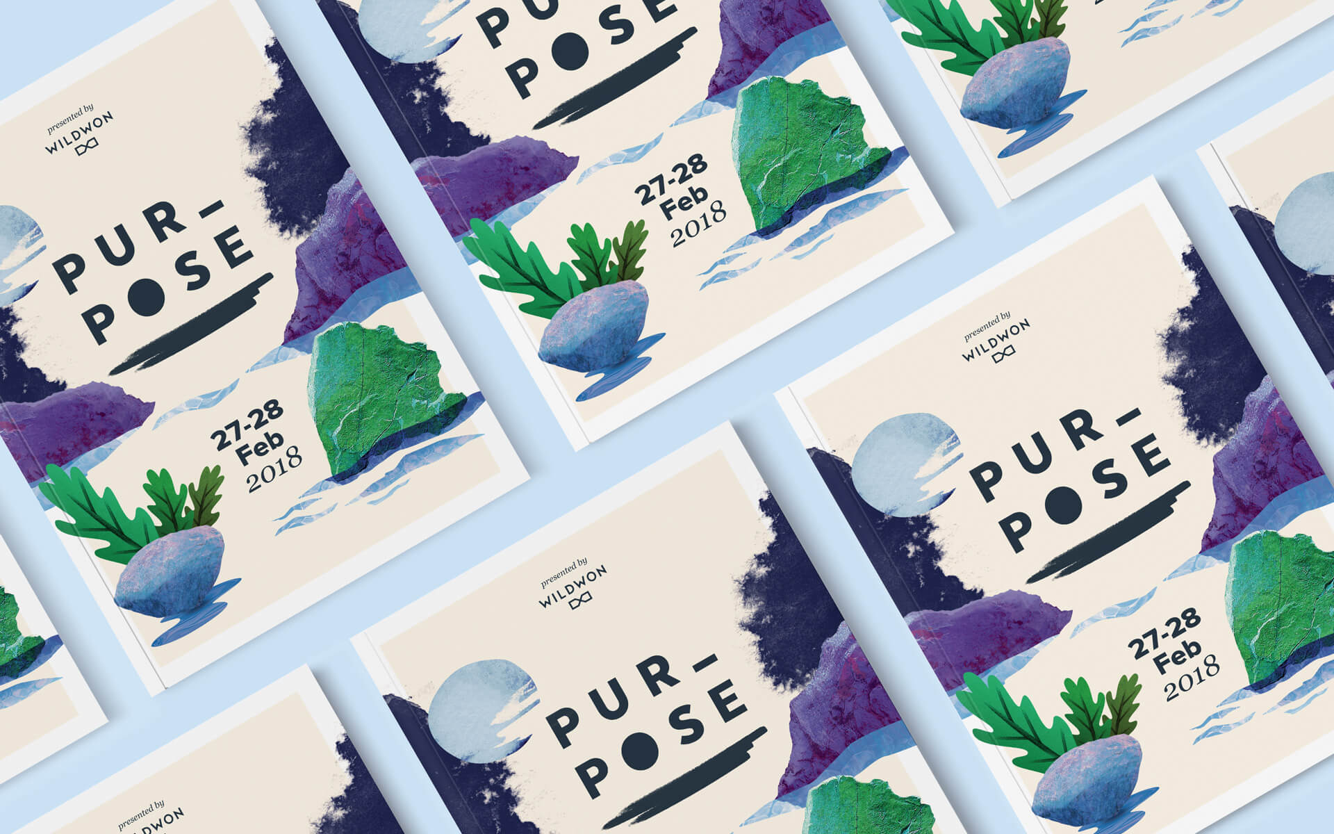 Pupose 2018 program cover designs.