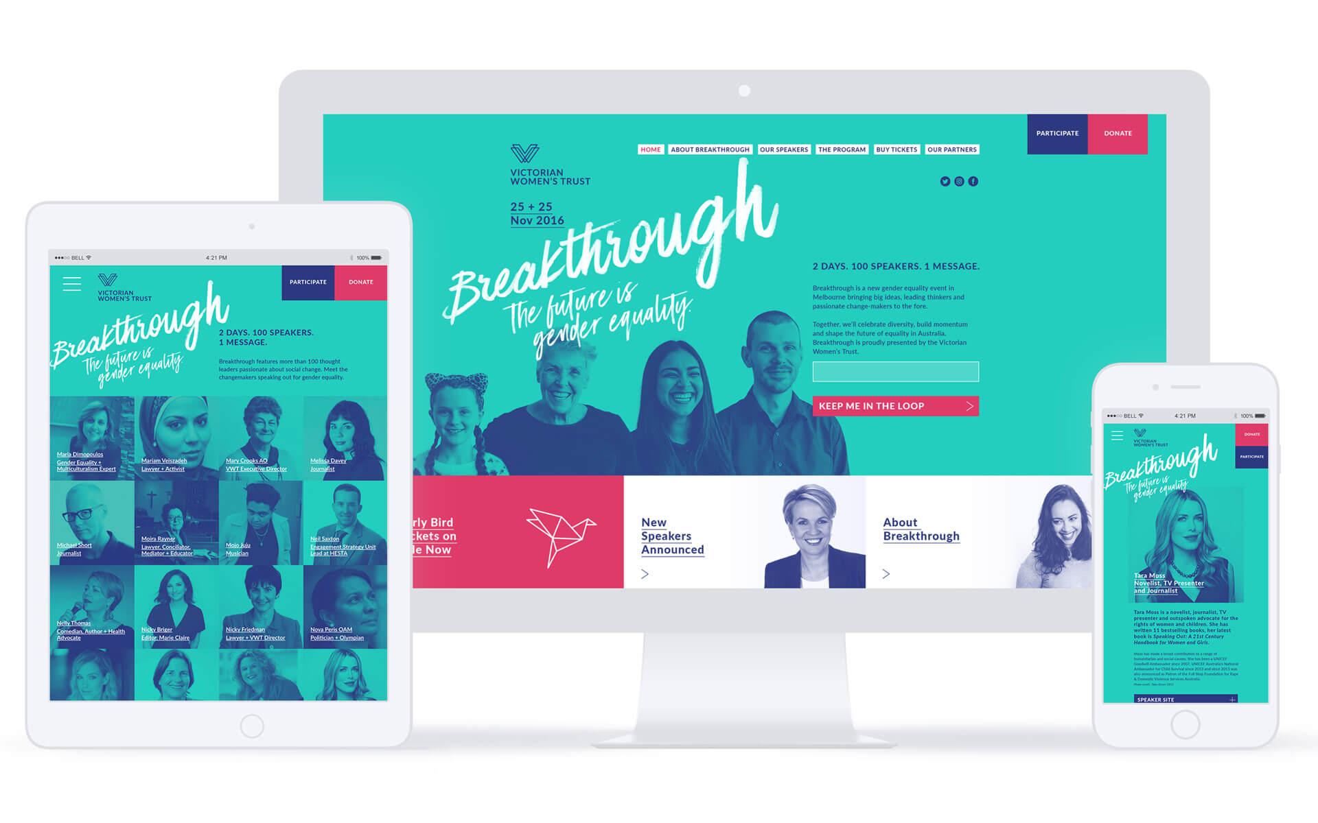 Breakthrough responsive microsite design.
