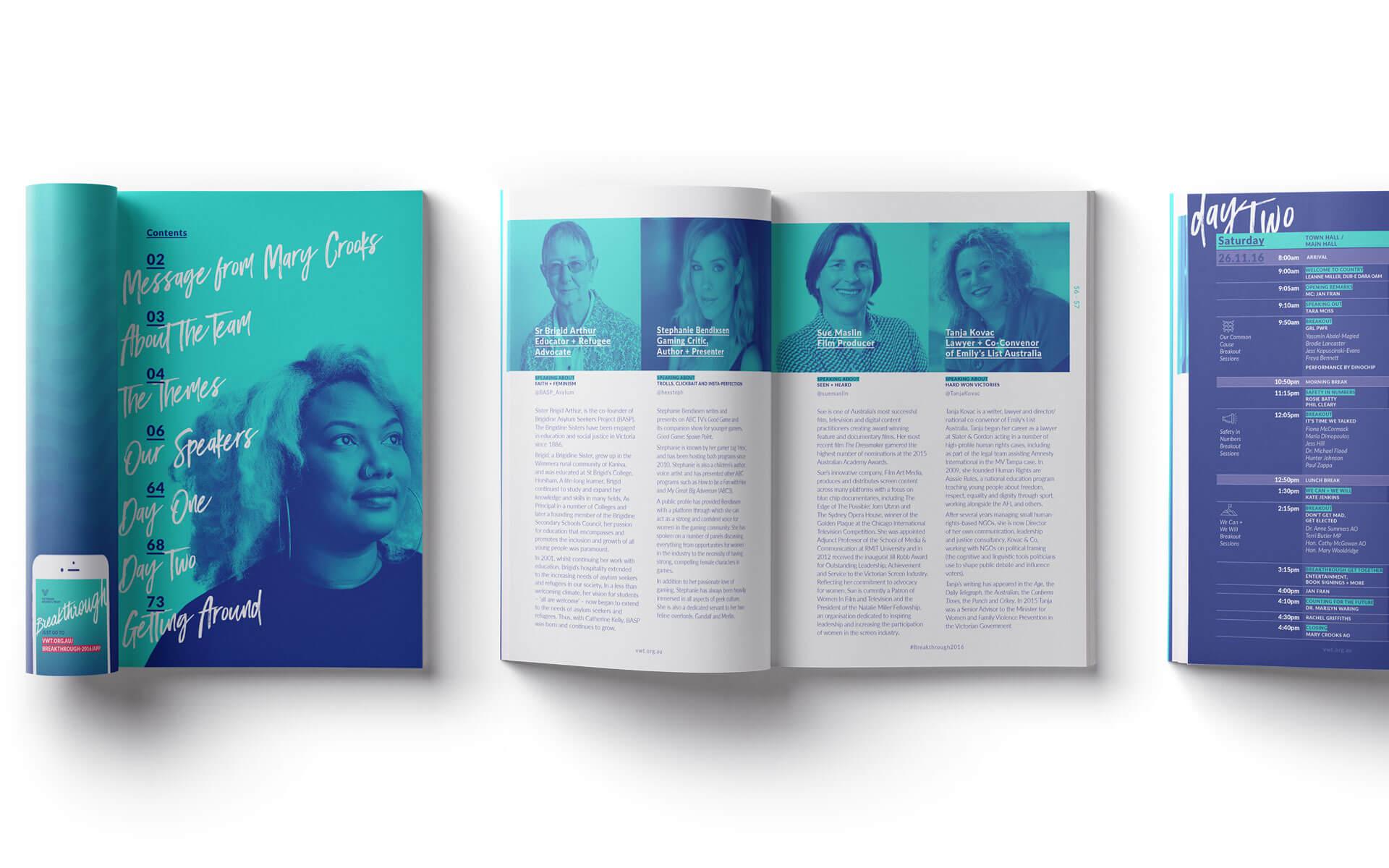 Breakthrough program pages.