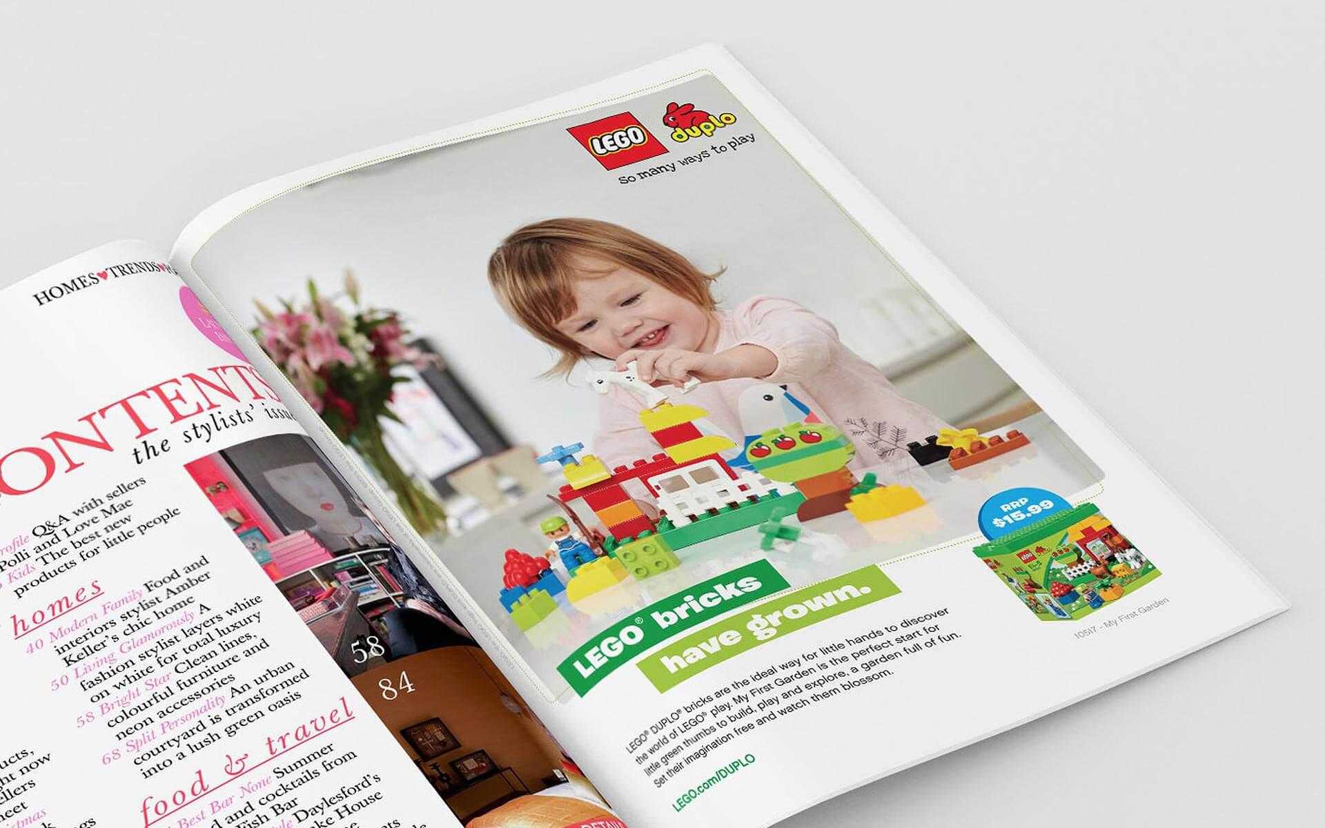 LEGO Duplo print ad, LEGO bricks have grown