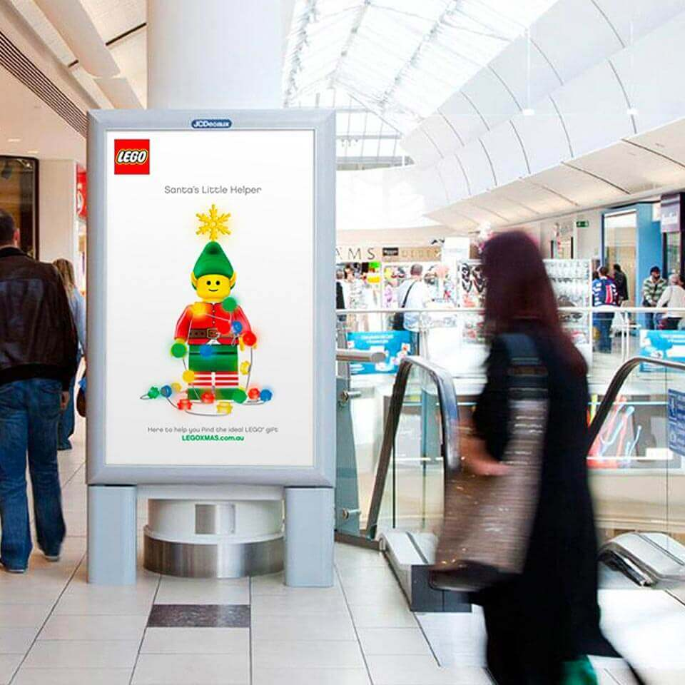 LEGO Christmas campaign, eyelite in shopping centre.