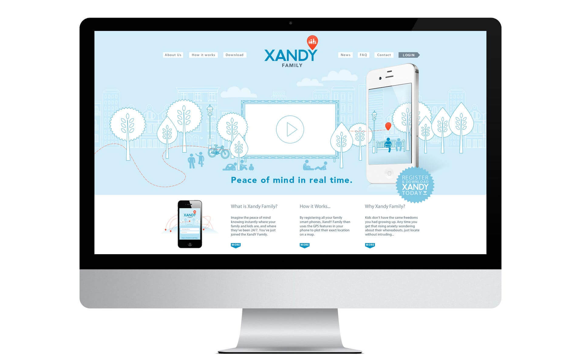 XandY family homepage website design.