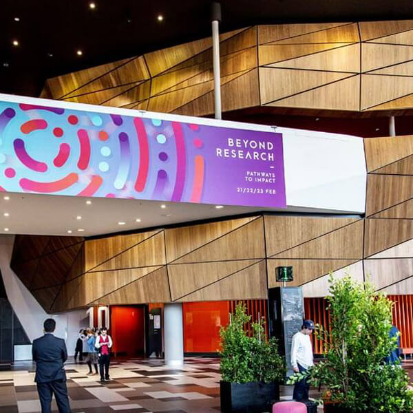 RMIT Beyond Research large banner design.