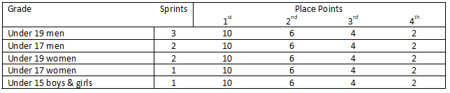 Wanstead Hill KOM Points by Grade
