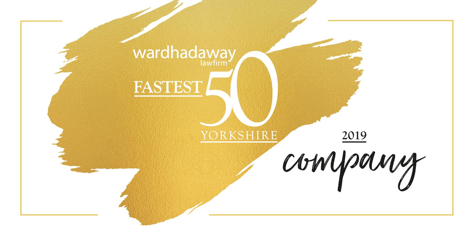 Ward Hadaway fastest 50 growing companies in Yorkshire
