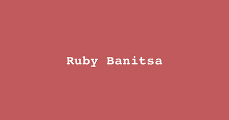 Ruby Banitsa: Tuesday, 4rd of September