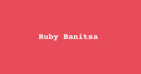 Ruby Banitsa: Friday, 22nd of February