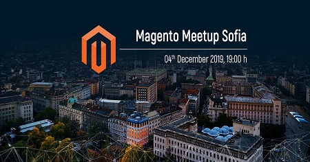 The image shows a picture of Sofia on which is written Magento Meetup Sofia.
