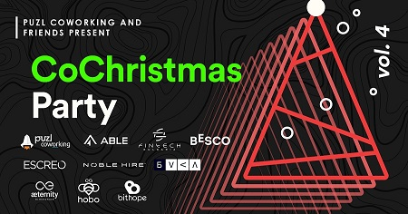 On the image is written Puzl CowOrKing and friends present CoChristmas Party vol.4