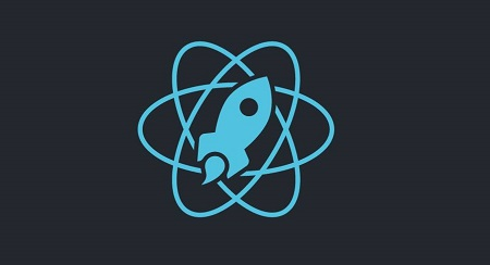 React rocket logo.
