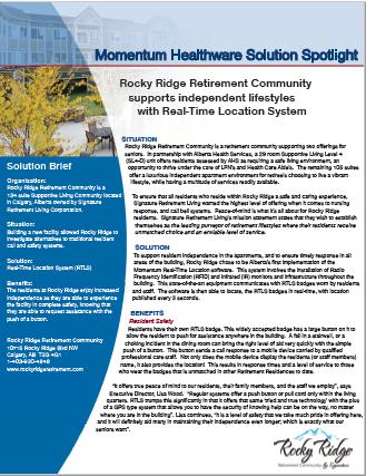Nurse Call System Case Study - Rocky Ridge