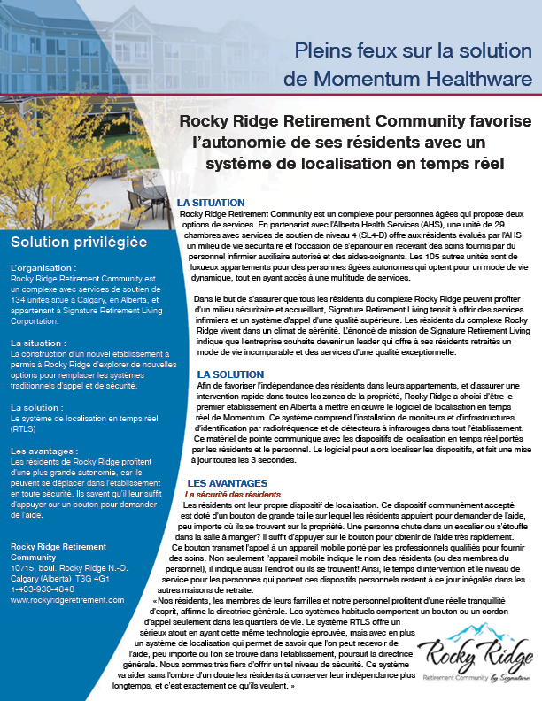 Nurse Call System Case Study - Rocky Ridge