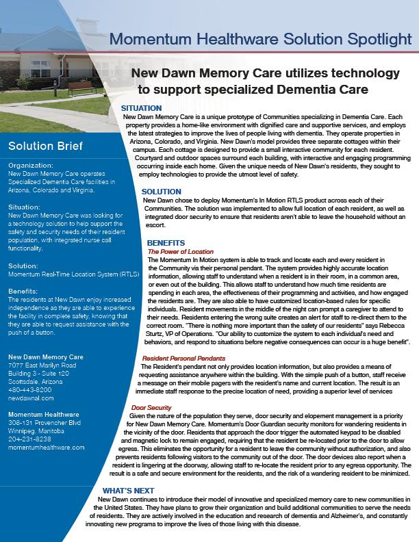 Nurse Call System Case Study - New Dawn