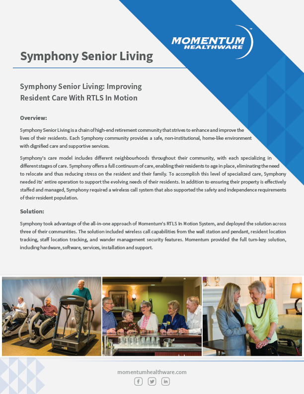 Nurse Call System Case Study - Symphony Senior Living