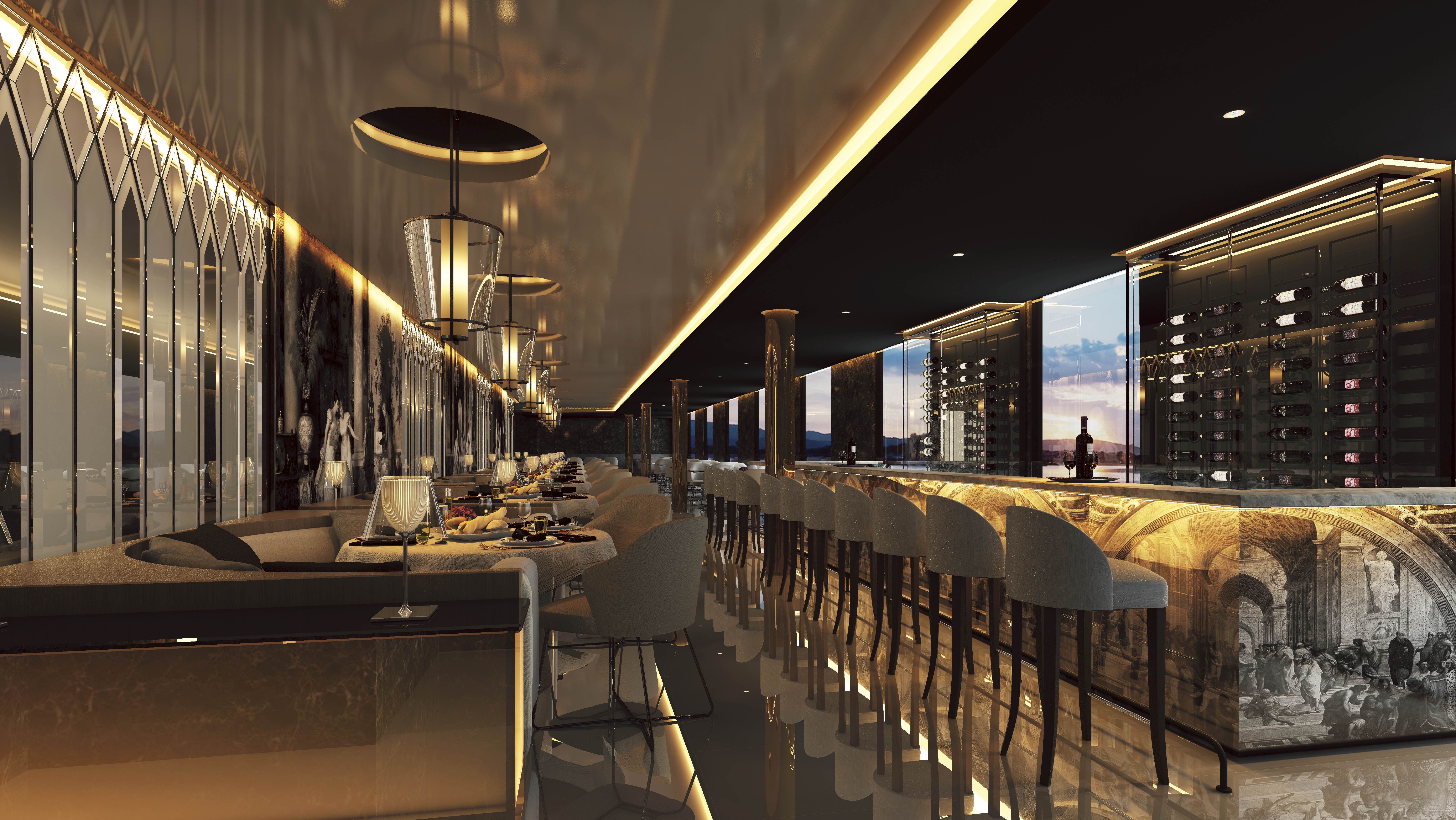 Scenic Eclipse - Steakhouse & Italienisches Spezialitätenrestaurant