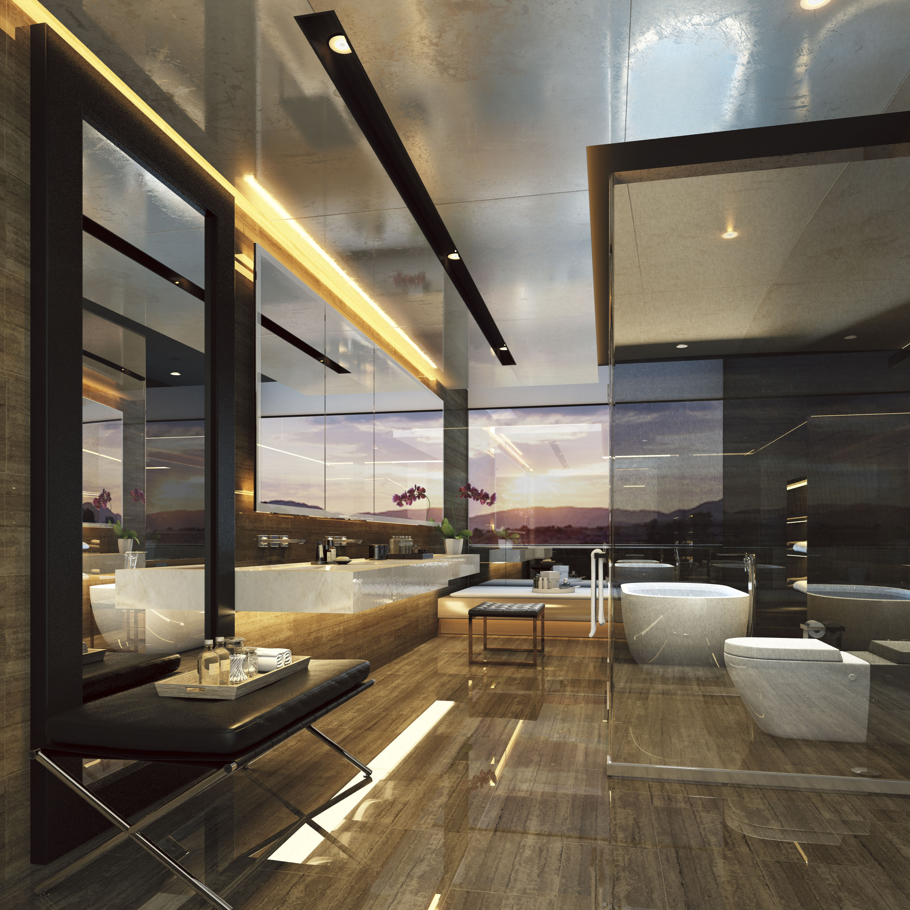 Scenic Eclipse - Owners Penthouse Suite Badezimmer