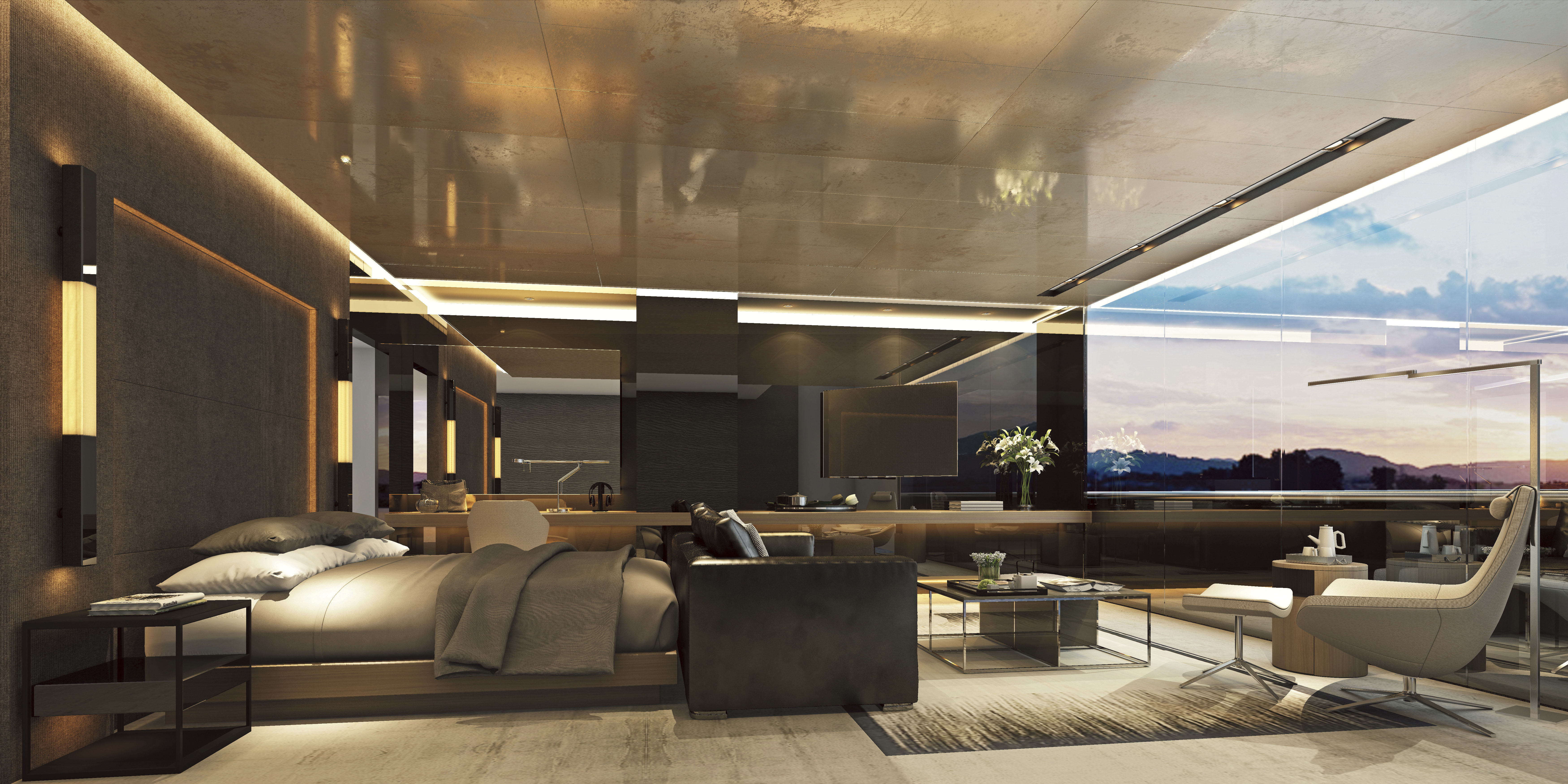 Scenic Eclipse - Owners Penthouse Suite Schlafzimmer