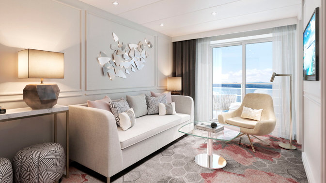 Crystal Symphony - Seabreeze Penthouse Suite with Verandah