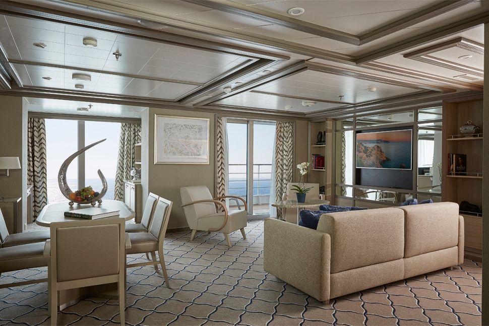 Silversea - Silver Spirit - Owners Suite Wohnbereich