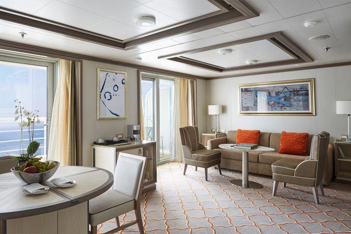 Silversea - Silver Spirit - Silver Suite Wohnbereich