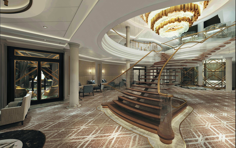 Seven Seas Splendor - Treppenhaus Atrium