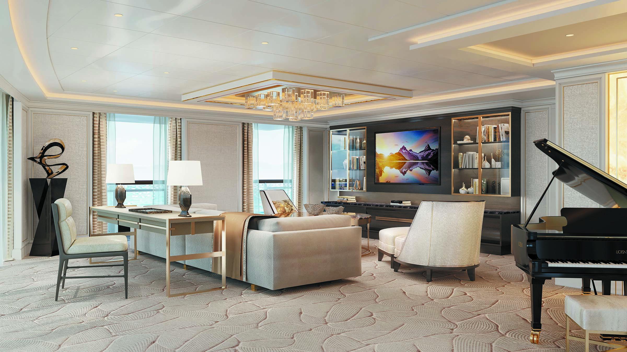 Seven Seas Splendor - Wohnzimmer Regent Suite
