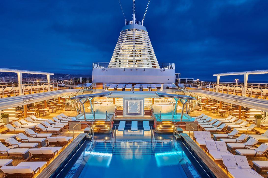 Seven Seas Splendor - Pool Deck at Night