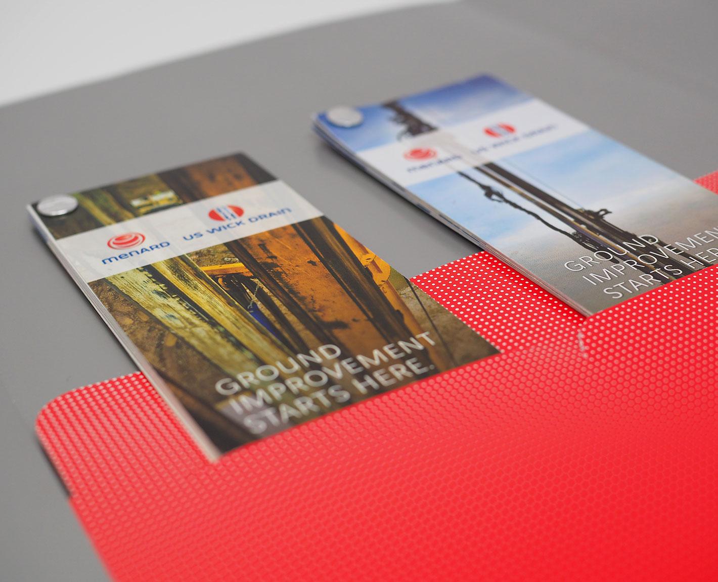 Custom pocket folder design by Tara Hoover