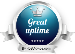 HostAdvice Great Uptime Award for Cloudfusion