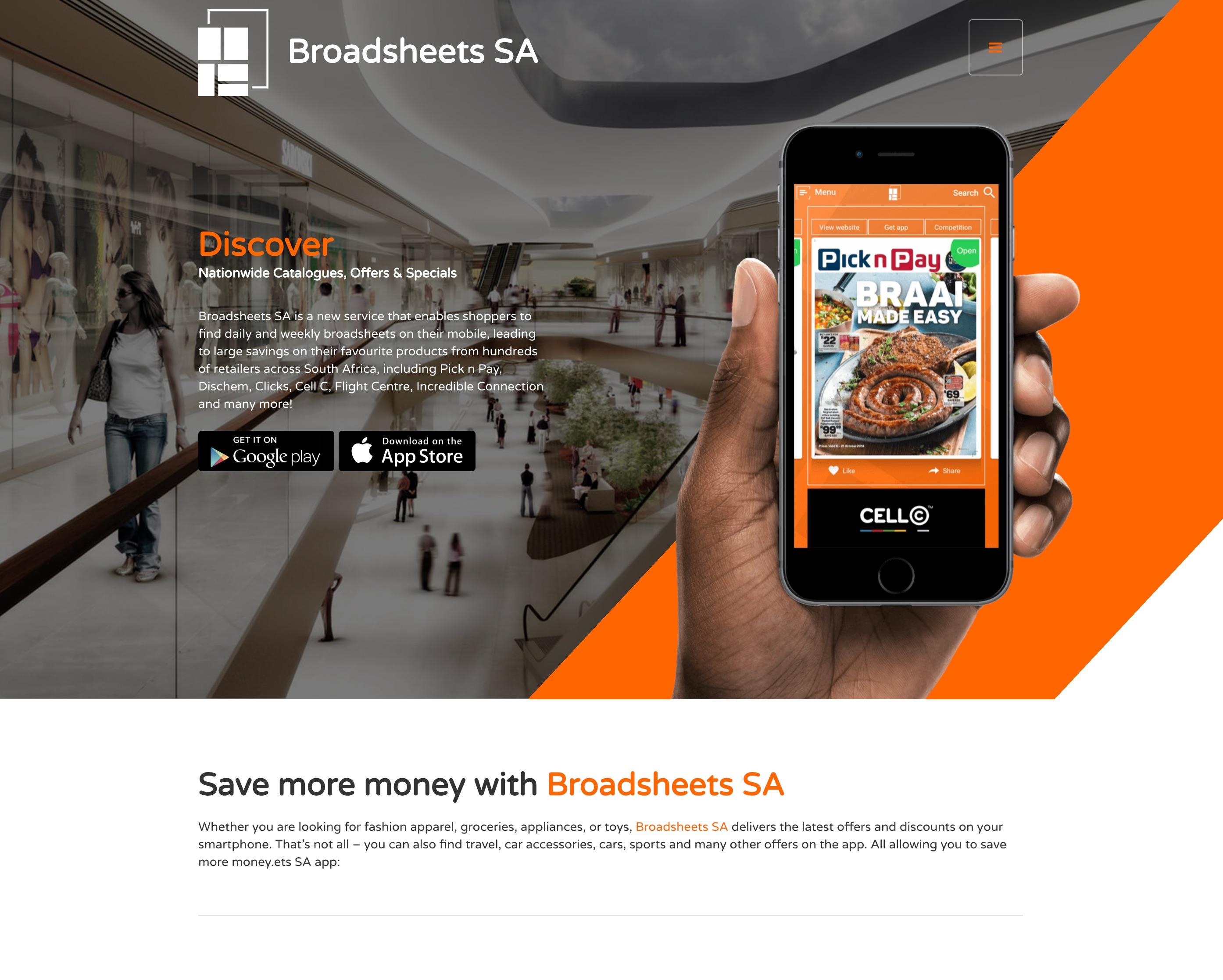 Broadsheets SA Website Design and Development