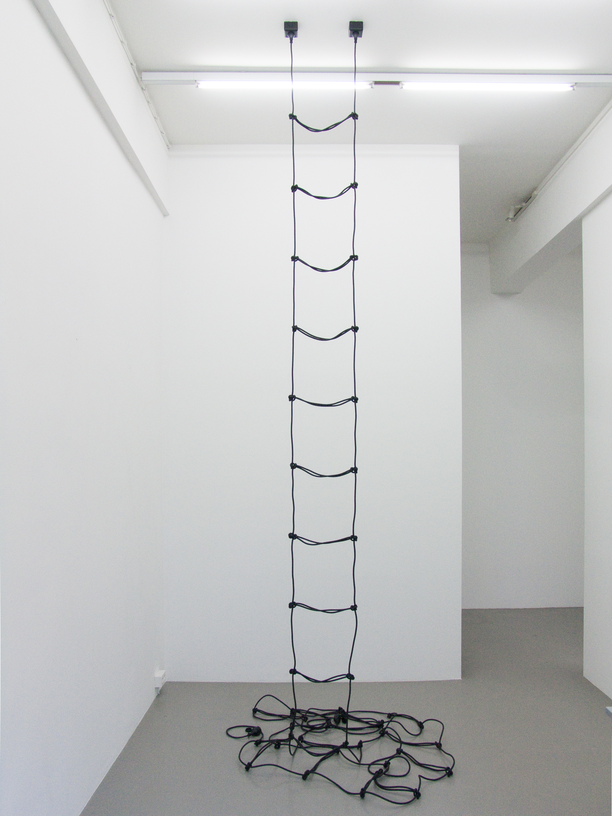 Artwork by Erik Andersen - Leiter 2010 - Black Sculpture - Dimension variable - Installation View