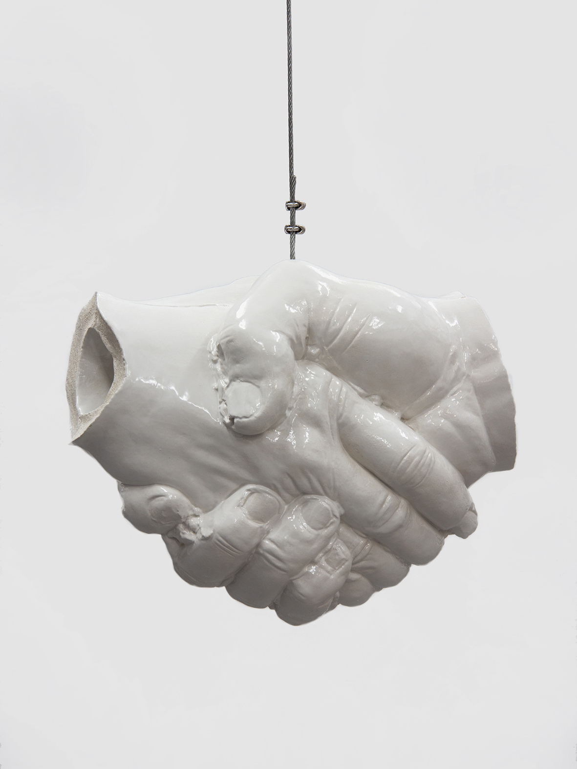 Ceramic Sculpture I Handschlag I Erik Andersen