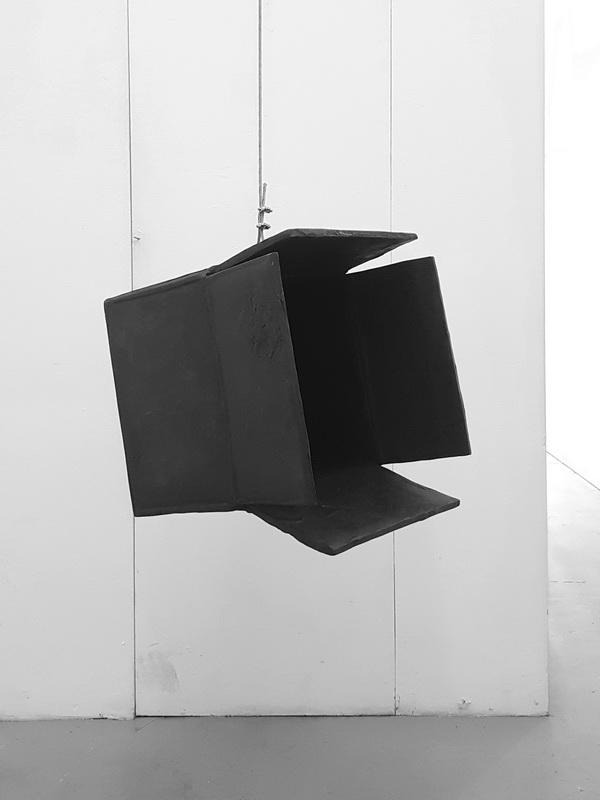 Artwork by Erik Andersen - Black Hole 2019 - Black Sculpture - Dimension 48 x 56 x 50 cm - Installation View