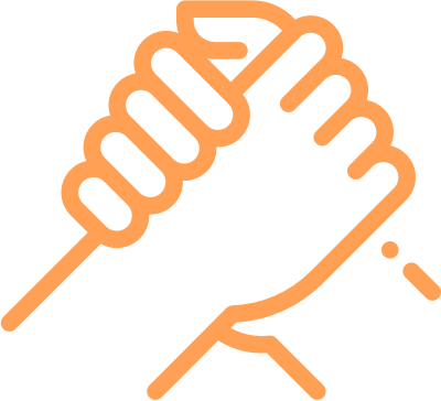 partnerships icon holding hands