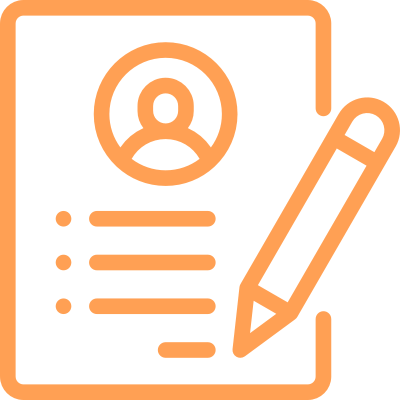 job board icon with pencil and paper