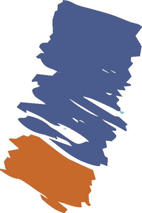 blue and orange paint