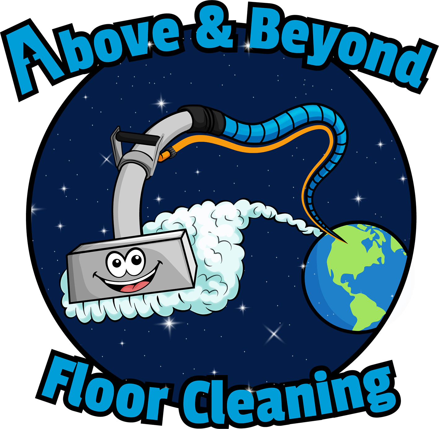 above and beyond floor cleaning in el dorado hills california logo