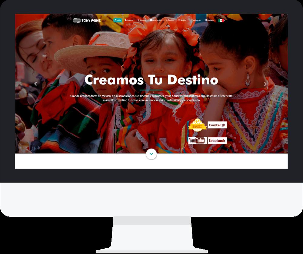 Sitio web tony perez travel agency