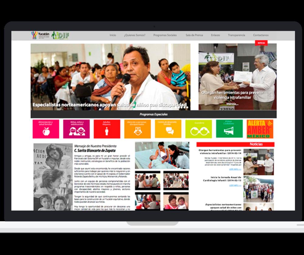 Sitio web dif yucatan