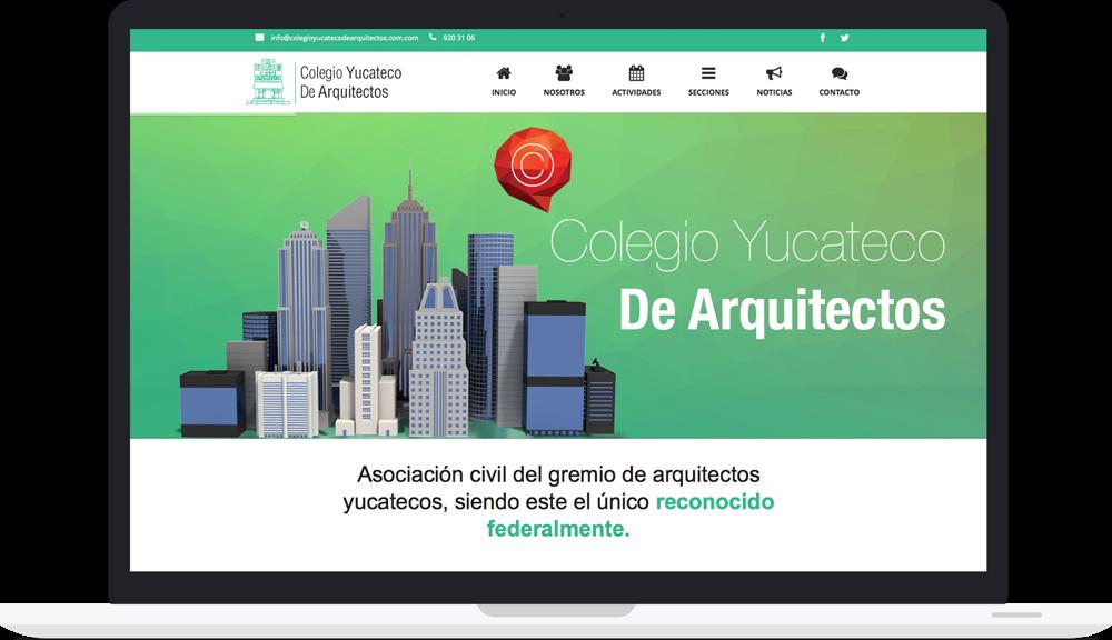 Sitio web colegio yucateco de arquitectos