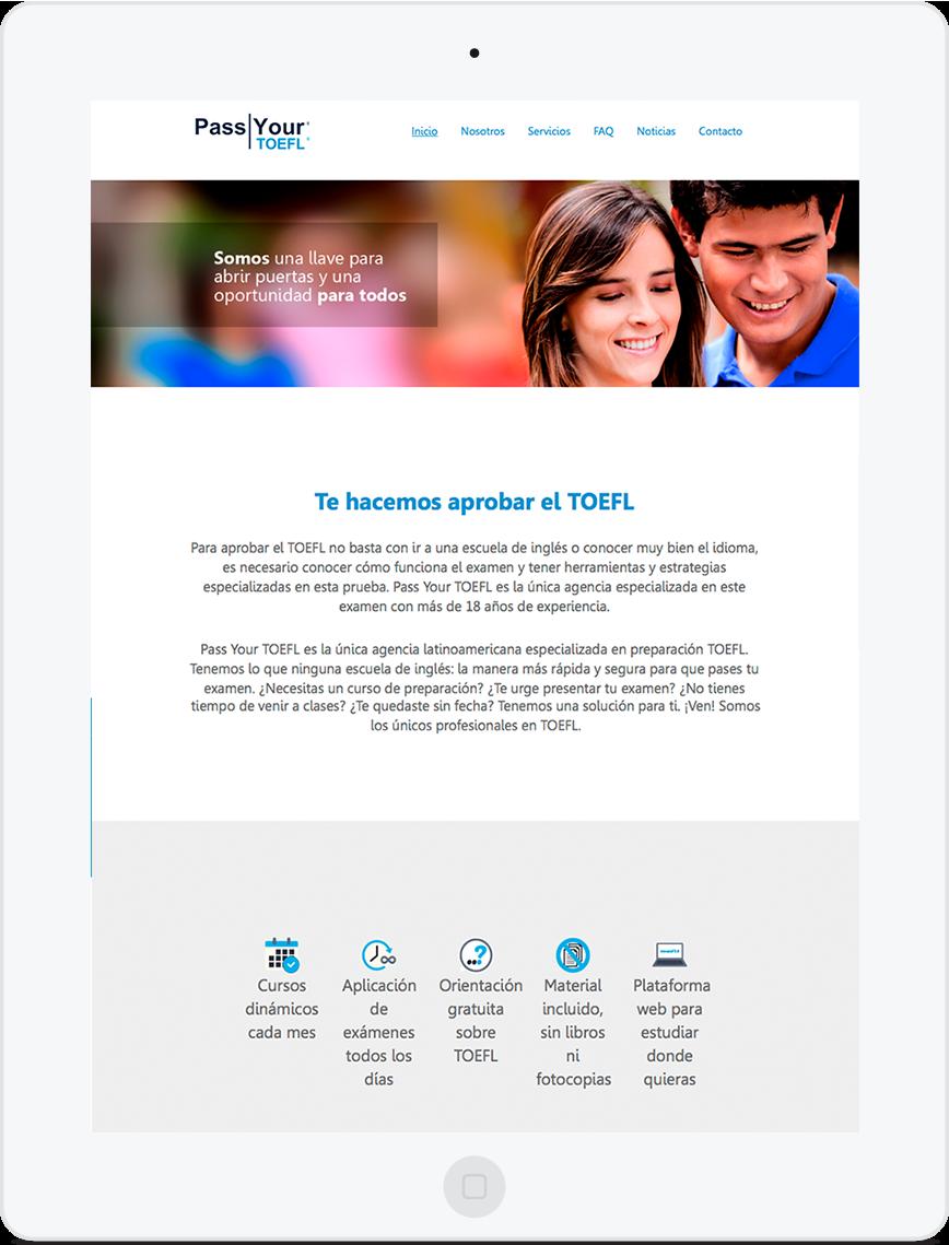 Sitio web pass your toefl