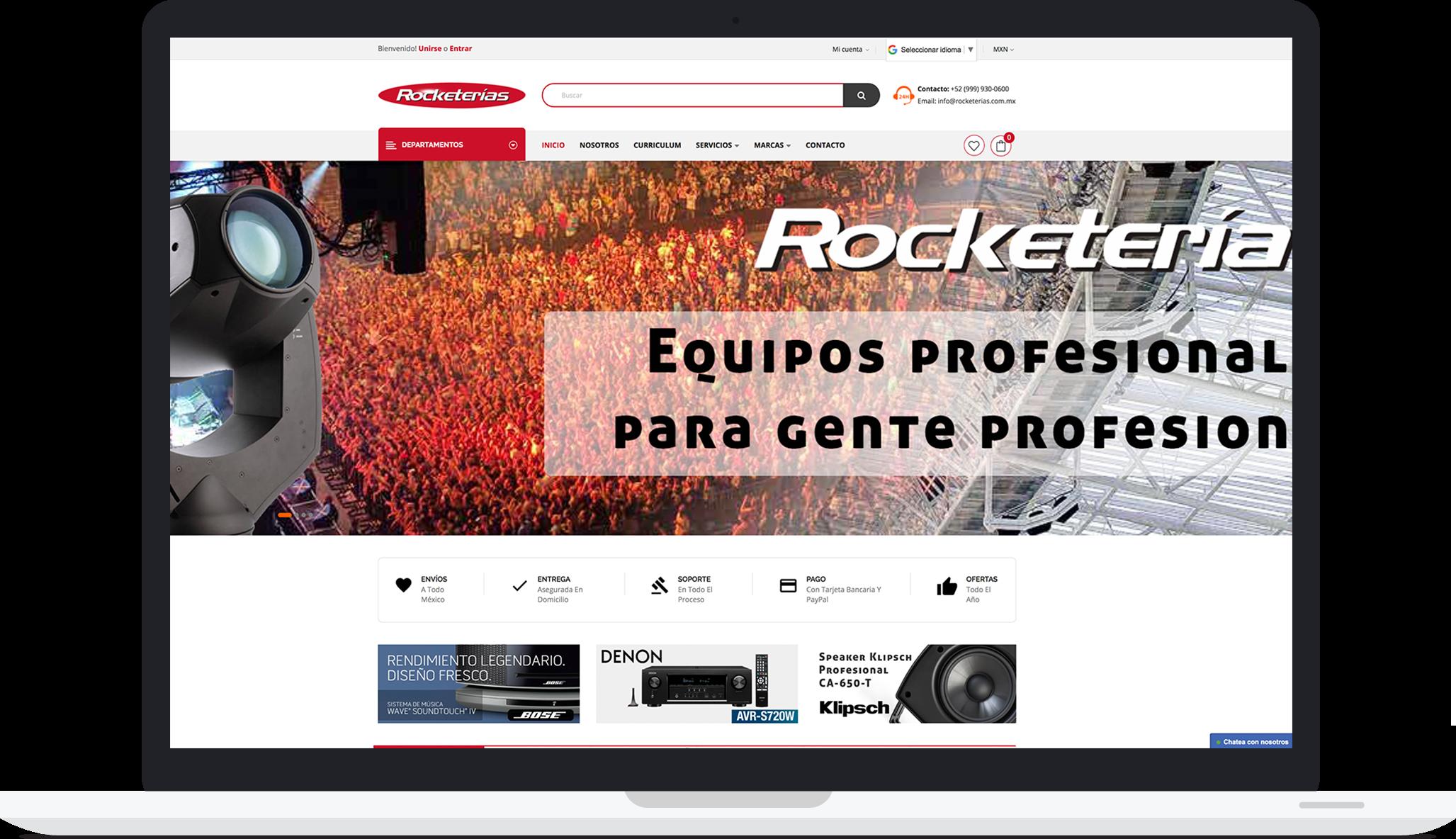 Sitio web de rocketerias