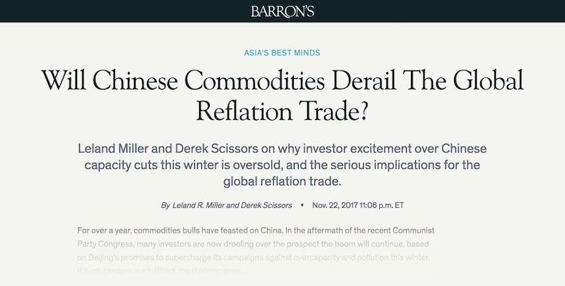 Will Chinese Commodities Derail The Global Reflation Trade?