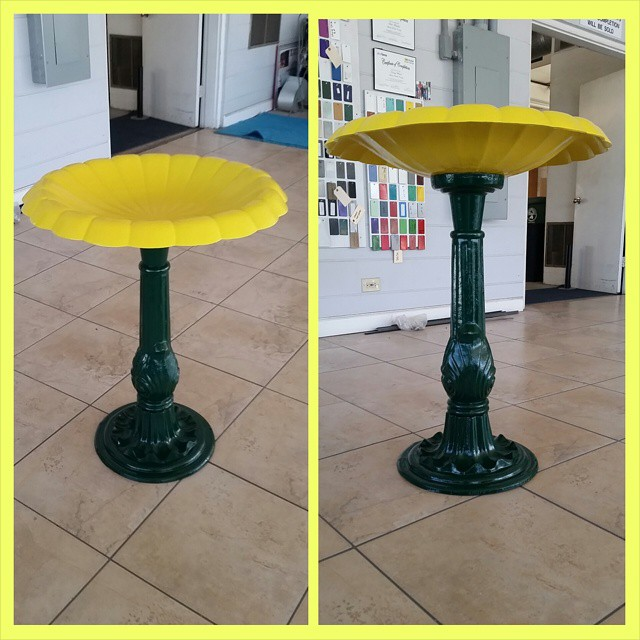 black and yellow powder coated