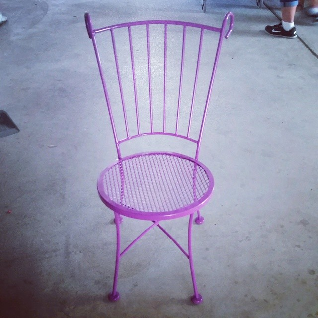 Purple powder coated chair