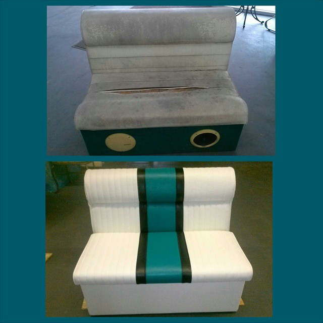 Boat Seat Re-Upholstered