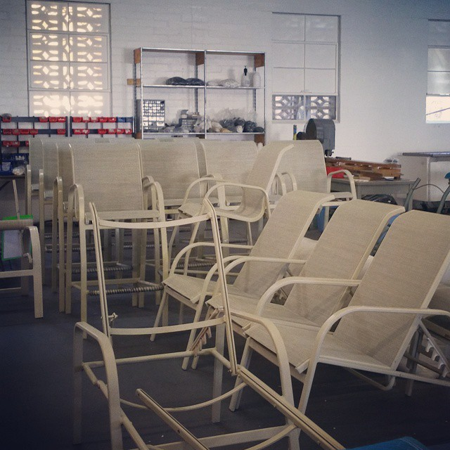 patio chairs powder coated
