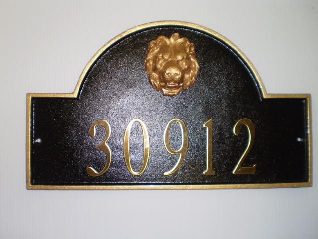 Plaque Powder Coated